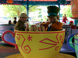 Disney - Mad Hatter Rides the Tea Cups | by Express Monorail
