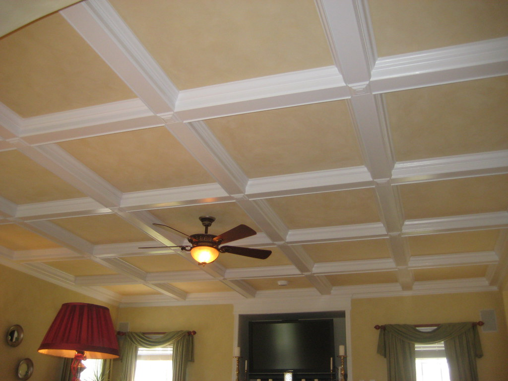 Coffered Ceiling Painting Picture Of A Coffered Ceiling