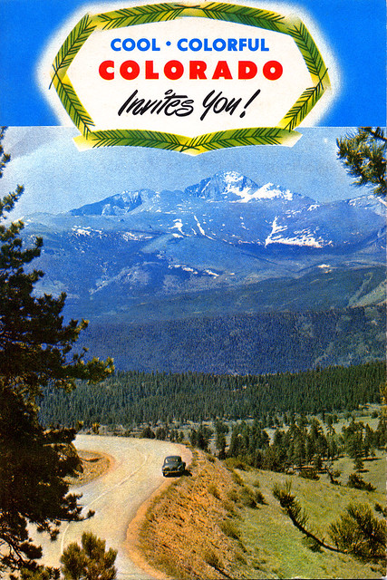 Colorado Travel Brochure Front Cover C 1956 The Front