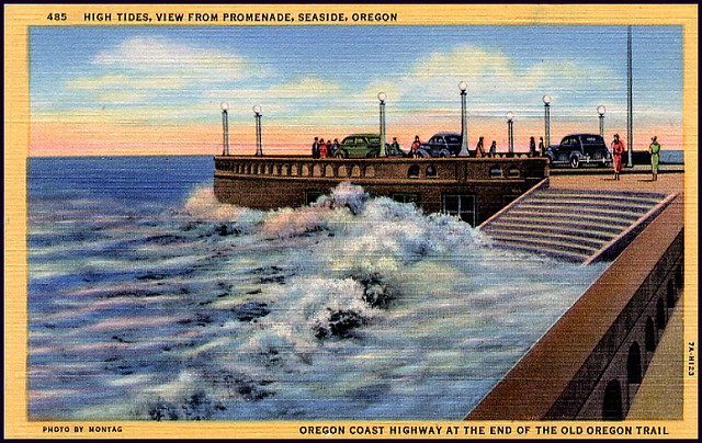 Postcard High Tides View From Promenade Seaside Oregon Flickr