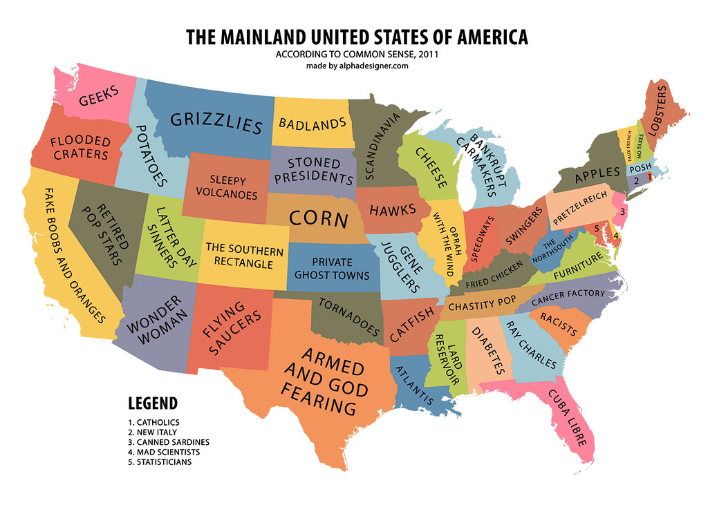 All sizes The Mainland United States of America According to