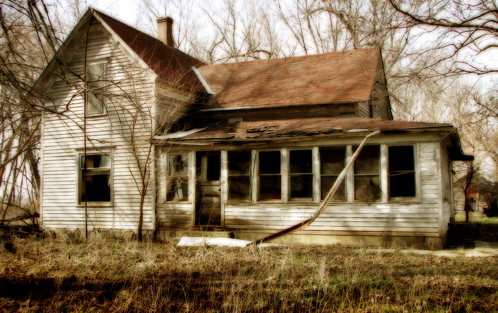 Pocahontas County Iowa Abandoned House And Porch Flickr