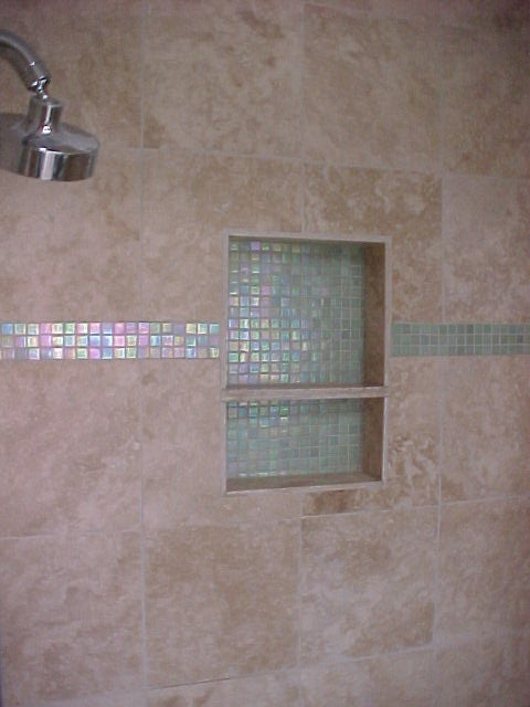 Bathroom Mosaic Shower Niche Built In Shampoo Shelf Tile