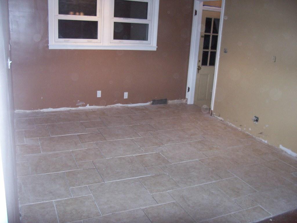 Installing New Tile Floor Kitchen