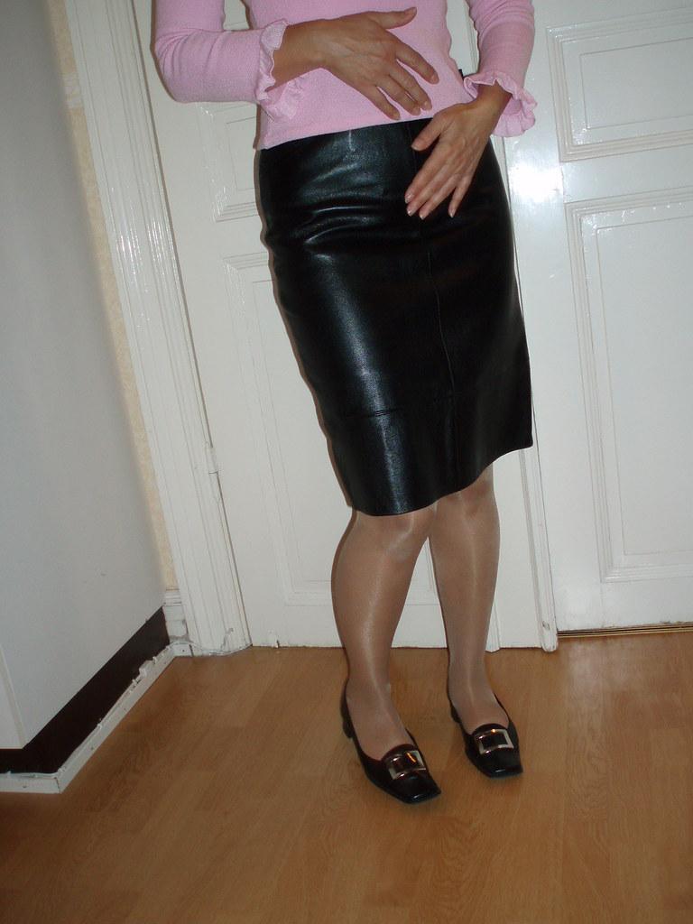 leather skirt leather skirt lena leder flickr