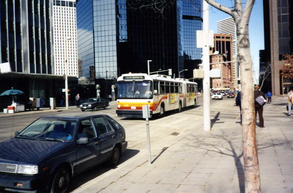 Rtd Articulated Bus Denver Colorado Taken In 1993