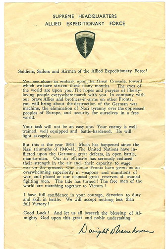 D-Day: Eisenhower's Letter to the Troops | by heroreports