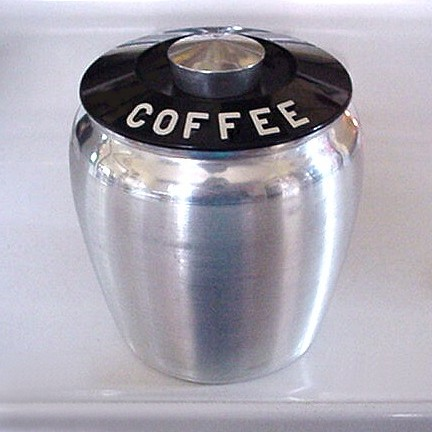 Vintage Kromex Spun Aluminum Coffee Canister With Lid Flickr