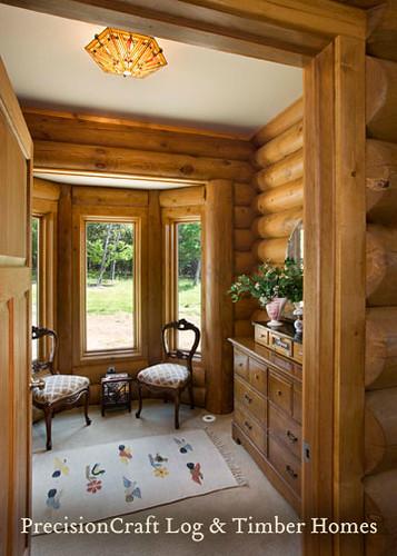 Custom Room Design Online: Milled Log Home Dressing Room