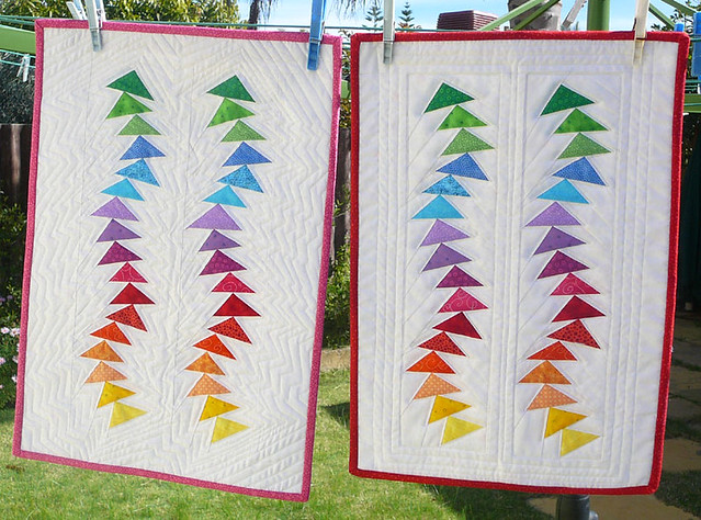 Two wonky flying geese dolls quilts. | I have made two but d… | Flickr : flying geese quilting - Adamdwight.com