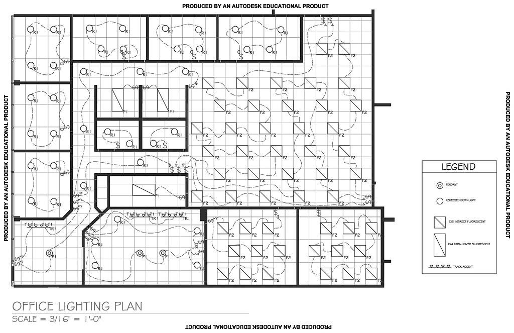 Office Lighting Plan Intr 125 Color Amp Lighting December