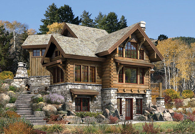 Rustic Luxury Log Cabin The Targhee Mountain Architects Flickr