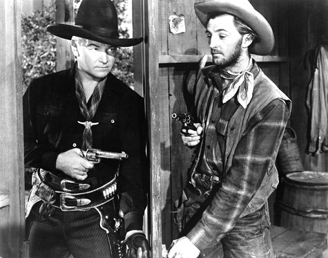 William Boyd Hopalong Cassidy And Robert Mitchum In Hop