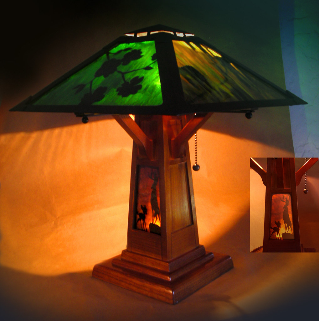 Walt Disney S Bambi Stained Glass Lamp Bambi Stained