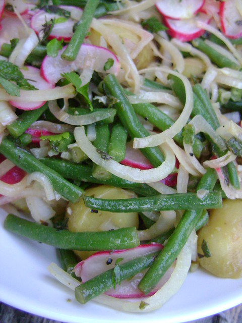 Potato Salad with Green Beans & Bacon Images - Frompo