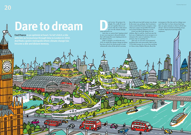 2050 double page feature illustration of london in flickr