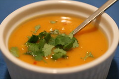 Gingery Sweet Potato Soup | by thebittenword.com