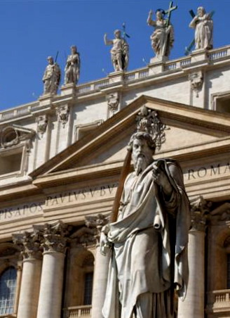 Statue of St. Paul outside the Basilica-Rome | by ЯR