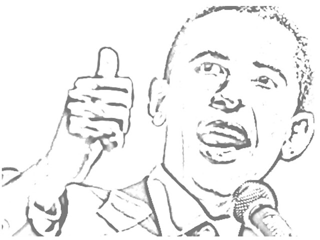 Barack Obama Coloring Picture