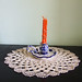 Doily 4 w/candle