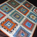 Log Cabin Baby Boy Quilt - Orange