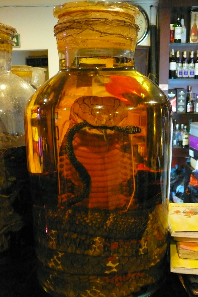 Drink With Snake In The Bottle
