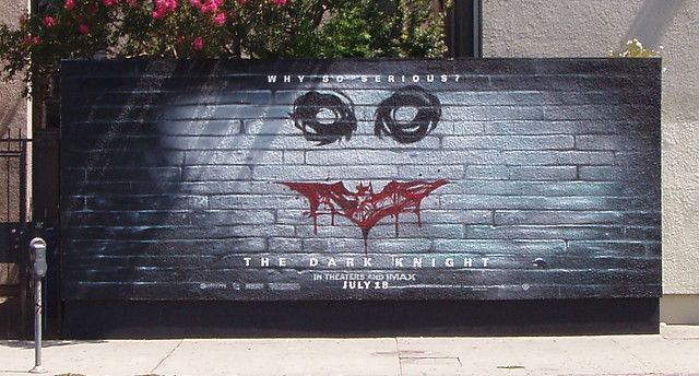The dark knight batman wall mural the dark knight why for Dark knight mural