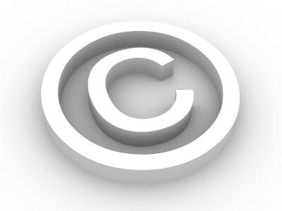 copyright symbol rendered white copyright symbol on