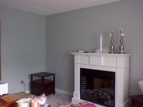 ... In Love With This Wall Color. Itu0027s A Combination Of Baby Blue And Grey  . Blue Gray Living Room ...