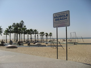santa monica pier muscle beach | by False Positives