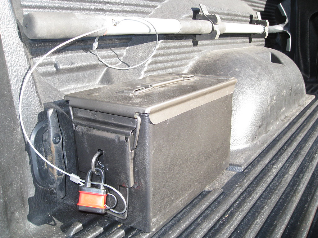 Truck Bed Organizer >> ammo can truck bed storage with lock | In-bed storage made ...