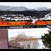BNSF orange in Fraser, Colorado