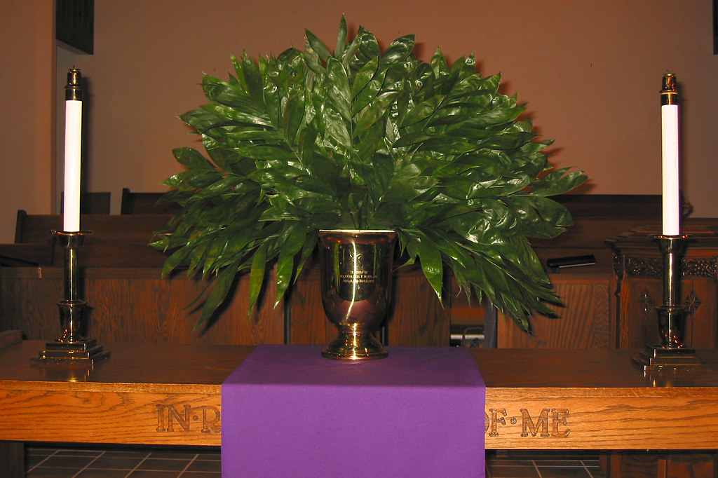 Palm Sunday altar decoration | Instead of flowers, our ...