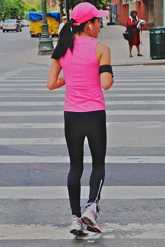 Jogger in pink and black | by Ed Yourdon
