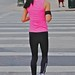 Jogger in pink and black
