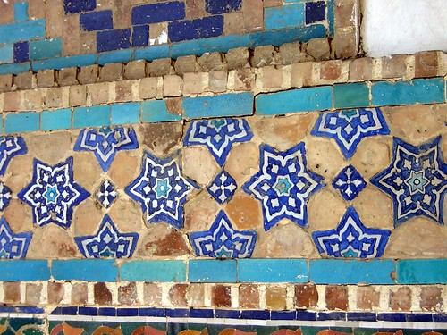 Mosaics at Registan, Samarkand 6 | by Vilseskogen