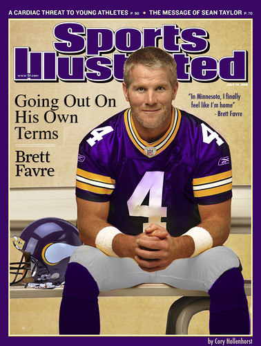 Brett Favre In Minnesota Vikings Uniform On Sports Illustrated | by DavidErickson