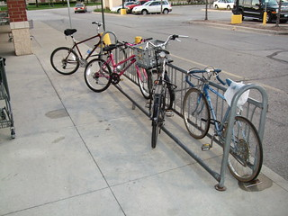 Bad bike parking at Jewel | by Steven Vance