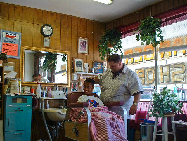 My Barber | My barber in his old fashioned barber shop ...