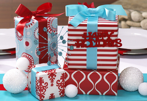 Christmas Gifts Centerpiece Hwtm Holiday Theme Paper