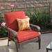 patio furniture+lounge+chair+faux wicker+rust cushions