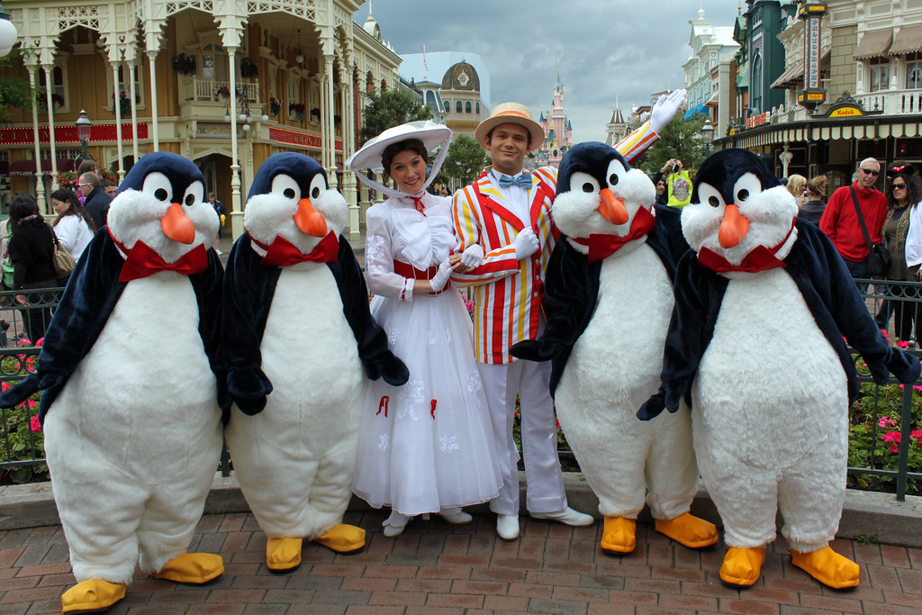 Mary Poppins Bert Penguins Mary Poppins Bert And The
