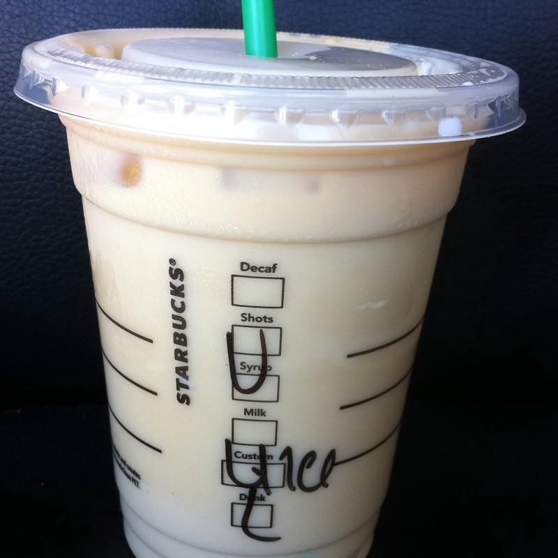 Iced Vanilla Latte @ Starbucks