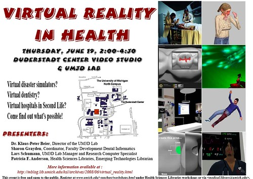 Virtual Reality In Health Event Poster Made The News
