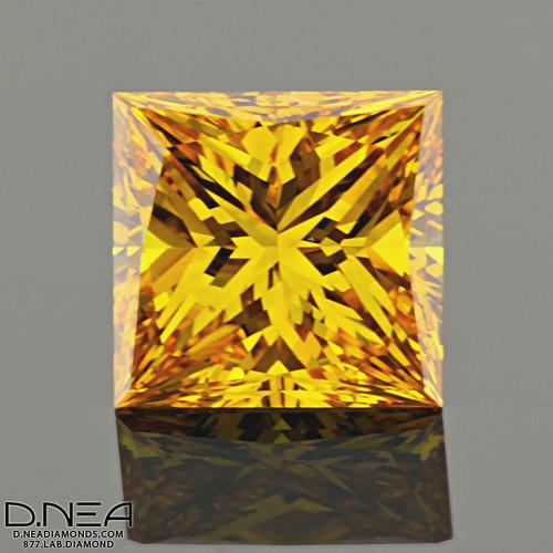Yellow Princess Cut Diamond Ring