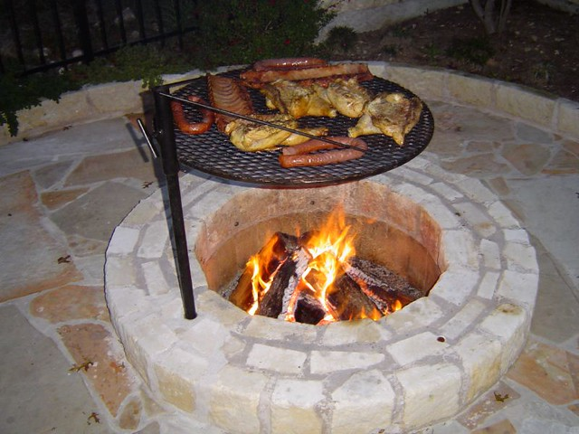 ... fire pit with cooking grill (aka cowboy cooker) | by lipinski - Fire Pit With Cooking Grill (aka Cowboy Cooker) Lipinski Flickr