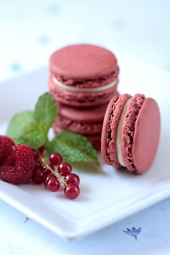 Red Berry Macarons | by tartelette