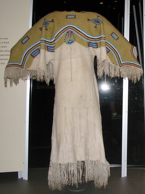 Sioux Two Hide Pattern Dress With Fully Beaded Yoke Flickr