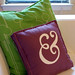 i made an ampersand pillow!