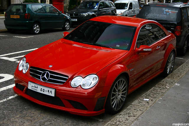 Mercedes benz clk 63 amg black series one of the two red for B series mercedes benz